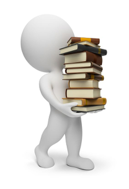 3d Small People Carrying Books. 3d Image. Isolated White Background.